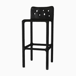 Black Sculpted Contemporary Chair by Victoria Yakusha