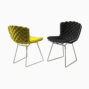Original Bertoia Beistellstühle von Clément Brazille Revisited