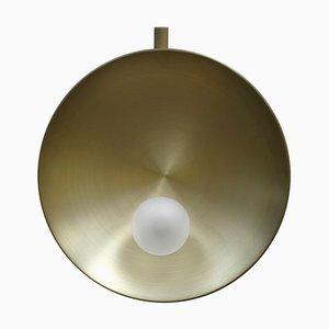 Oyster Wandlampe aus Messing, Carla Baz