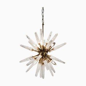 Quarz Sputnik Lampe in Naturweiß, Kleine Iconic Hängelampe
