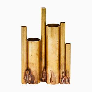 Soliifores I Skulptur Vase aus Messing von Pia Chevalier signiert