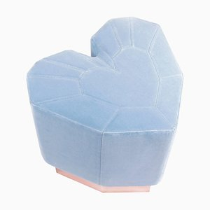Light Blue Queen Heart Stool by Royal Stranger