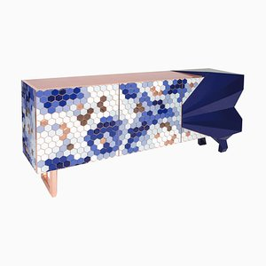 Honeycomb Blue Sideboard Royal Stranger