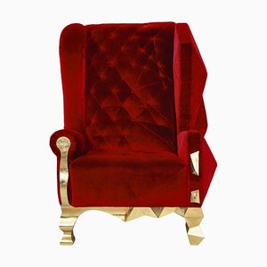 Velvet Ruby Armchair by Royal Stranger