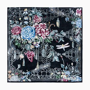 Escape Flowers Contemporary Handwoven Rug