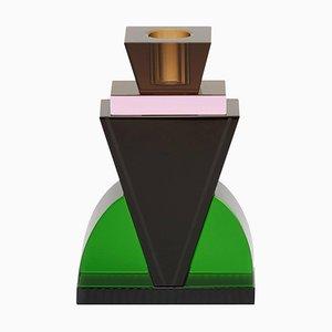 Portacandela, cristallo contemporaneo scolpito a mano