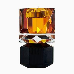 Bougeoir Dakota en Cristal en Cristal Sculpté Contemporain
