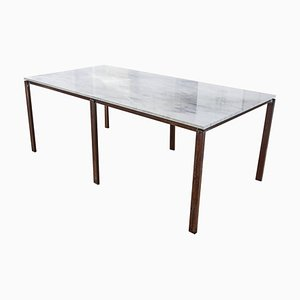 Ask the Rust, Carrara Marble Table