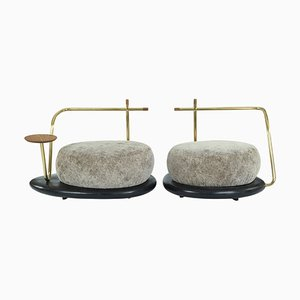 Pair of Zen Pouffes, Misaya