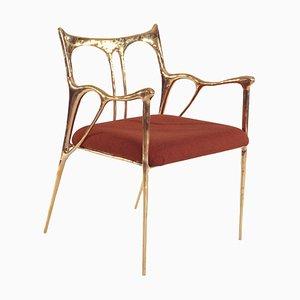 Brass Sculpted Brass Chair, Misaya