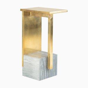 IF Tisch IV, Messing und Marmor, signiert von Noro Khachatryan