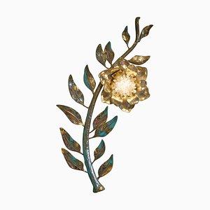 """Applique in cristallo di rocca, """"Bay Flower"""", Demian Quincke"""
