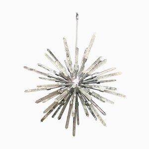 Silver Stella, White Quartz Pendant Lamp