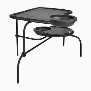 Brass Side Table, Compound II, Misaya