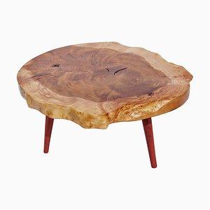 Unique Padouk Tisch aus Eschenholz von Jörg Pietschmann