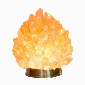 Natural Amber Quartz Lighting - ''Small Liberty'', Demian Quincke