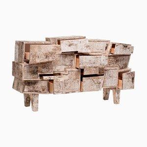 Cassettiera unica in legno di betulla, Werner Neumann