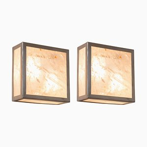 "Pure Rock Crystal Sconces, ""Classic Cube,"" Demian Quincke"