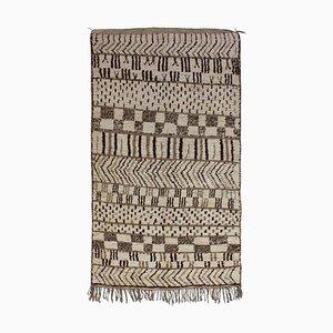 Handwoven Berber Wool Rug, Vintage Azilal