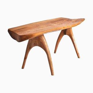 Einzigartiger signierter Eichenholz Stuhl von Jörg Pietschmann