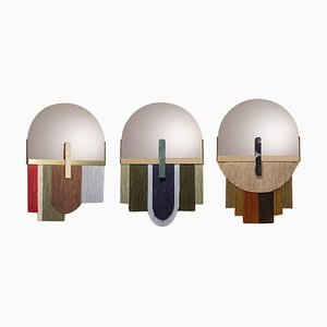 Ensemble of Three Colorful Wall Mirrors by Dooq