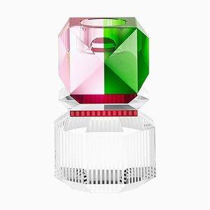 Dakota Weihnachtskristall 2019 Kerzenhalter in Hand-Skulptur aus Kristallglas