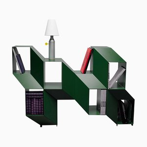 Crédence 'Rocky' Sculpturale Verte, Charles Kalpakian