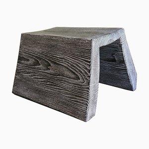 Brünierter und Gebeizter Eichenholz Schreibtisch von Fritz Baumann