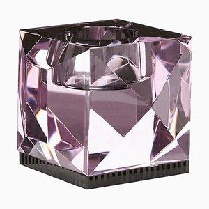 Ophelia Kristallglas T Wandlampe, Handskulpturierter Contemporary Kristallglas