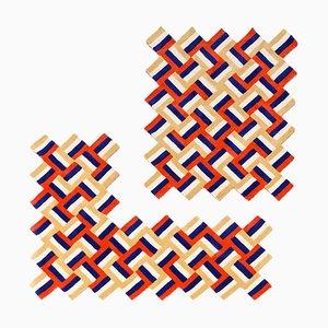 Alfombra '' Cross '' de lana, Anatole Royer