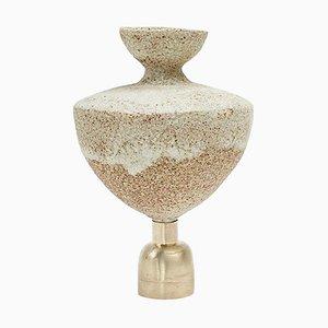 Glasierte 'Isolierte n.5' 'Steingut Vase, Raquel Vidal und Pedro Paz
