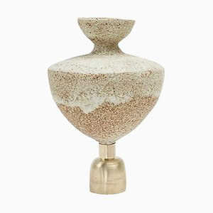 Glaze ''Isolated n.5'' Stoneware Vase, Raquel Vidal and Pedro Paz