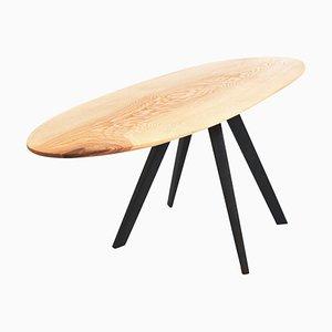 Einzigartiger signierter Tisch mit Tischplatte aus Eschenholz von Jörg Pietschmann