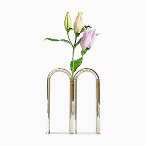 Verspiegelte Messing '' Bizaudata '' Vase, Ilaria Bianchi