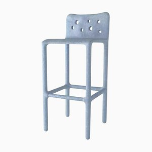 Sky Blue Sculpted Contemporary Chair by Victoria Yakusha