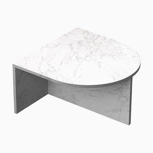 White Marble ''Fifty Oblong'' Coffee Table, Sebastian Scherer