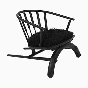 Handgeformter '' Rainbow Chair '' Low-Slung Chair, Nicholas Hamilton Holmes