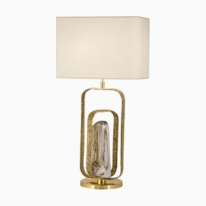 Brass and Crystal ''Potter'' Table Lamp