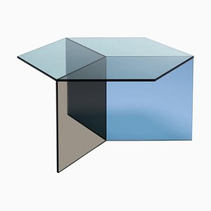 Clear Glass ''Isom Square'' Coffee Table, Sebastian Scherer