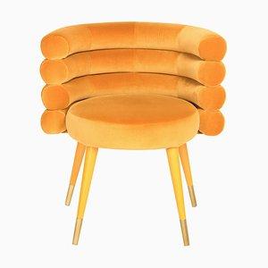 Silla de comedor en mostaza en color Marshmallow, Royal Stranger