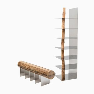 Korean ''Hanok'' Split Shelf, Shinkyu Shon