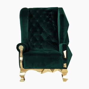 Deep Green Armchair by Royal Stranger