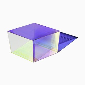 Glass ''Rho Square 40'' Coffee Table, Sebastian Scherer