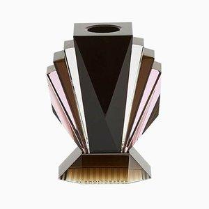 Brooklyn Kristallglas T-Lampenhalter aus handgemeißeltem zeitgenössischem Kristallglas