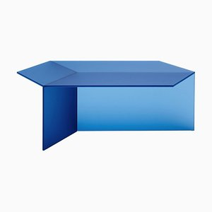 Satin Glass ''Isom Oblong'' Coffee Table, Sebastian Scherer