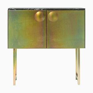 Galvanized Steel and Marble ''Bump'' Cabinet, Jan Plechac & Henry Wielgus
