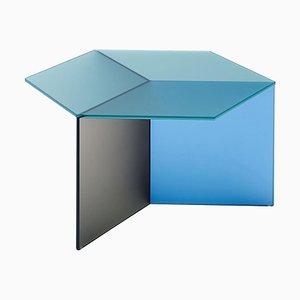 Tavolino da caffè in vetro satinato di Isom Square, Sebastian Scherer
