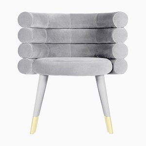 Grey Marshmallow Dining Chair, Royal Stranger