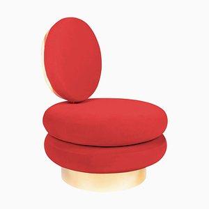Red Marshmallow Single Sofa, Royal Stranger