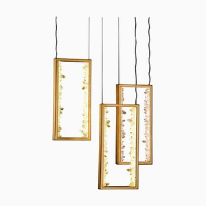 Quartz ''Carbonite'' Pendant Lamp, Waldir Junior